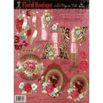"Hot Off the Press 3-D Papier Tole Die Cuts Floral Boutique: Multi, 8 1/2"" x 11"", Dimensional, (model HOTP8029), price per each"