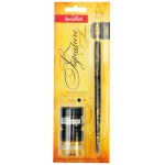 Speedball® Pen Holder Nib & Ink Set: Water-Resistant, Globe Nib, Pen Holder & Nib Sets, (model H94158), price per set