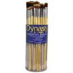 Dynasty® B700 Canister Series Bright Brush Assortment: Long Handle, Bristle, Bright, Acrylic, Oil