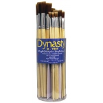 Dynasty® B700 Canister Series Flat Brush Assortment: Long Handle, Bristle, Bright, Acrylic, Oil