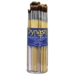 Dynasty® B700 Canister Series Round Brush Assortment: Long Handle, Bristle, Bright, Acrylic, Oil