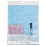 "Blue Hills Studio™ Value Lettering Stencil Set Cotton Candy: Clear, 1"", 3/8"", 8 1/2"" x 11"", Lettering, (model BHS114SET), price per set"