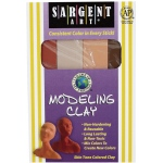 Sargent Art® Non-Hardening Modeling Clay Skintones 4-Pack: Multi, .25 lb, Non-Hardening