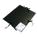 "Cachet® 9"" x 12"" Classic Portfolio: Black/Gray, Fiberboard, Paper, 9"" x 12"", (model CS471300912), price per each"