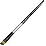 Dynasty® Black Silver® Blended Synthetic Watercolor Brush Angular 1/2: Short Handle, Bristle, Angular, Watercolor, (model FM32823), price per each