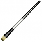Dynasty® Black Silver® Blended Synthetic Watercolor Brush Bright 12: Short Handle, Bristle, Bright, Watercolor