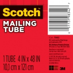 "Scotch® 4"" x 48"" Mailing Tube: White/Ivory, 4"", 48"", Fiberboard, 4"" x 48"", (model 7982), price per each"