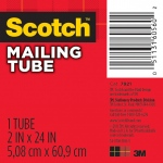 "Scotch® 1-15/16"" x 24"" Mailing Tube: White/Ivory, 1 15/16"", 24"", Fiberboard, 15/16"" x 24"", (model 7921), price per each"