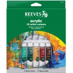 Reeves™ 10ml Acrylic 18-Color Set: Multi, Tube, 10 ml, Acrylic, (model 8493201), price per set