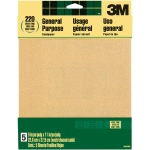 3M™ Aluminum Oxide Sandpaper Very Fine Grit: Very Fine, Rectangle, Sandpaper, (model 9000NA), price per pack