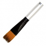 Daler-Rowney Simply Simmons Synthetic Acrylic/Multimedia Brush Ridge 1/2: Short Handle, Bristle, Ridge, Acrylic, Multimedia