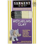 Sargent Art® Non-Hardening Modeling Clay Natural 4-Pack: Multi, .25 lb, Non-Hardening, (model 224007), price per pack