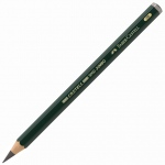 Faber-Castell® 2B Jumbo Graphite Pencils: Black/Gray, 2B, 5.25mm, Drawing, (model FC119302), price per each