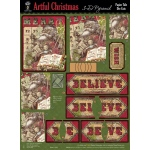 "Hot Off the Press 3-D Papier Tole Die Cuts Artful Christmas: Multi, 8 1/2"" x 11"", Dimensional"