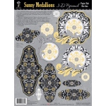 "Hot Off the Press 3-D Papier Tole Die Cuts Sunny Medallions: Multi, 8 1/2"" x 11"", Dimensional, (model HOTP8034), price per pack"