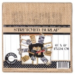 "Canvas Corp Stretched Burlap: 6"" x 6"""