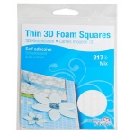 Scrapbook Adhesives by 3L Thin Foam Squares: White, Assorted