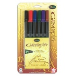 Sakura of America Pigma Calligrapher Pen Set: 1MM, Assorted Pack of 6