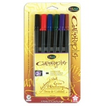 Sakura of America Pigma Calligrapher Pen Set: 2MM, Assorted 6 Pack