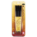 Sakura of America Pigma Calligrapher Pen Set: Black, Set of 3