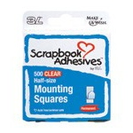 Scrapbook Adhesives by 3L Mounting Squares: Clear, Half Size