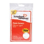 Scrapbook Adhesives by 3L Photo Corners Classic Style: White