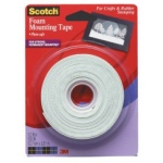 3M Scotch Foam Mounting Tape: 1/2""