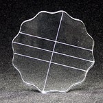 Apple Pie Memories Acrylic Stamping Block with Finger Grip: Round, 4.25""