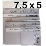 "Zutter Clear Acrylic Covers: 2 Pieces, 7.5"" x 5"""