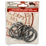 7Gypsies Binding Rings: Medium Antique Silver