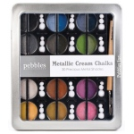 American Crafts Pebbles Chalk Set: Metallic Cream, Precious Metals, 30 Piece