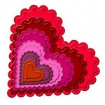 Spellbinders Nestabilities Individual Sets: Classic Scalloped Heart