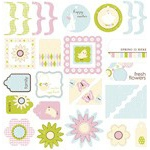 Making Memories Garden Party: Jigsaw Shapes Glitter Die-Cut