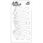Stampers Anonymous Tim Holtz Rays Layering Stencil