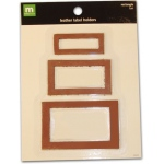 Making Memories Label Holders Leather: Rectangle Tan