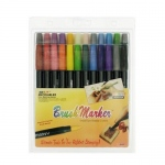 Marvy Brush Markers: 24 Piece Set