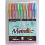 Sakura of America Gelly Roll Pens: Metallic, 10 Piece Set