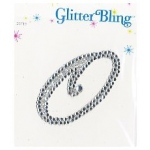 Making Memories Glitter Bling Monogram Script: O