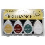 Tsukineko Brilliance Dew Drop: Earth Tone, Pack of 4