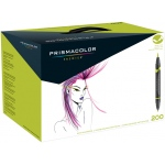 Prismacolor® Premier Brush Marker Set 200CT: Multi, Double-Ended, Alcohol-Based, Dye-Based, Brush Nib, Fine Nib, (model SN1850852), price per set