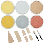 PanPastel® Ultra Soft Artists' Painting Pastel Metallics 6-Color Set: Metallic, Pan, Soft, (model PP30061), price per set