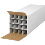 "Safco® Tube-Stor KD Roll File: White/Ivory, Fiberboard, 37""d x 12 3/4""w x 12""h, (model 3098), price per each"