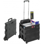 Safco® Collapsible Stowaway Crate: 50 lb, Black/Gray, Plastic, Storage Box, (model 4054BL), price per each