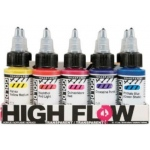 Golden® High Flow Acrylic 10-Color Transparent Set: Multi, Bottle, 1 oz, Acrylic, (model 0000954-0), price per set