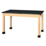 "Shain 60"" x 24"" Plain Student Table Epoxy Resin Top"