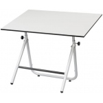 "Alvin® EZ Fold Table Black 36 x 48: 0 - 70, Black/Gray, Steel, 30 1/2"" - 44"", White/Ivory, 36"" x 48"""