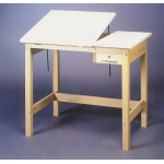 SMI Unfinished 36 x 60 Split-Top Table