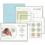 Little Yellow Bicycle Snugglebug Collection BabyBoy Announcement Kit
