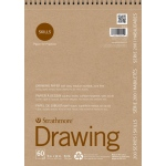 "Strathmore® 200 Series Skills 9"" x 12"" Wire Bound Drawing Pad: White/Ivory, Pad, 60 Sheets, 9"" x 12"", Drawing"