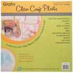 Grafix Craft Plastic: Clear, Heavy Weight, 8 x 8